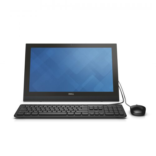 Dell Inspiron 20 3000 Series All-in-One Touch (Model 3043) desktop computer with Dell KB113 (Jasper) wired keyboard and Dell MS111 (Indigo) wired mouse.