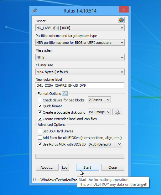 rufus-creating-bootable-drive-فلش-usb